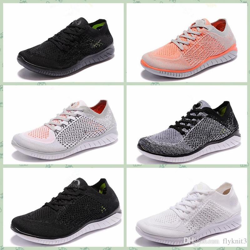 Nike free rn flyknit En Fly Free RN 5.0 koşu ayakkabıları erkek 2019 yeni örgü nefes hafif eğitmenler kadın moda açık hava koşu ayakkabıları US5.5-11