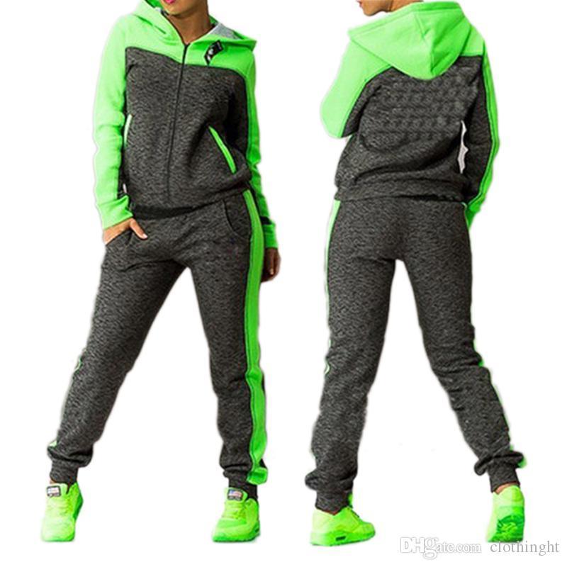 cloth Women's Sports Suits Two piece Tracksuit Women Sportswear Winter Set Suit Hooded Sport Suit Women Jogging Suits For Women