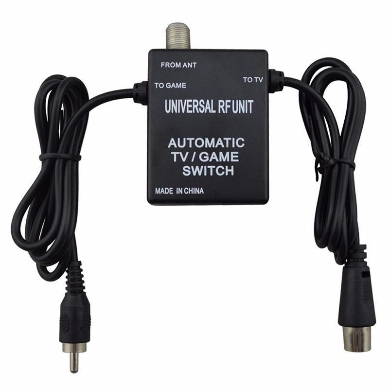 Chave 3 em 1 Universal Unidade RF cabo adaptador automático Jogo de TV para Super Nintendo para NES SNES SEGA Genesis