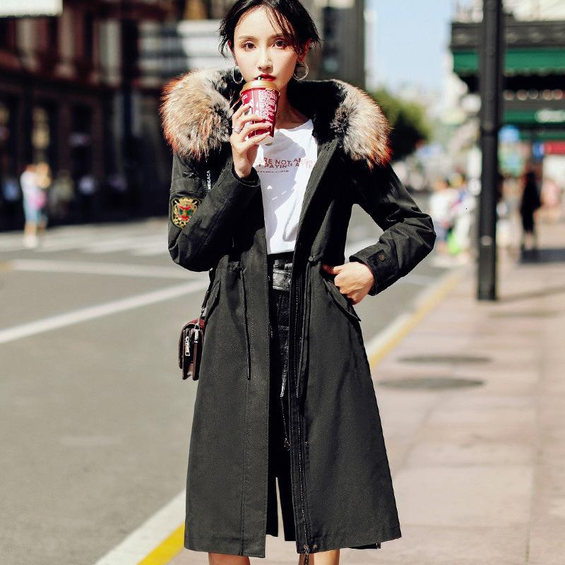 2019 Haining Ni sobre as mulheres de pele de coelho um forro de pele casaco de pele destacável casaco de inverno feminino T191115