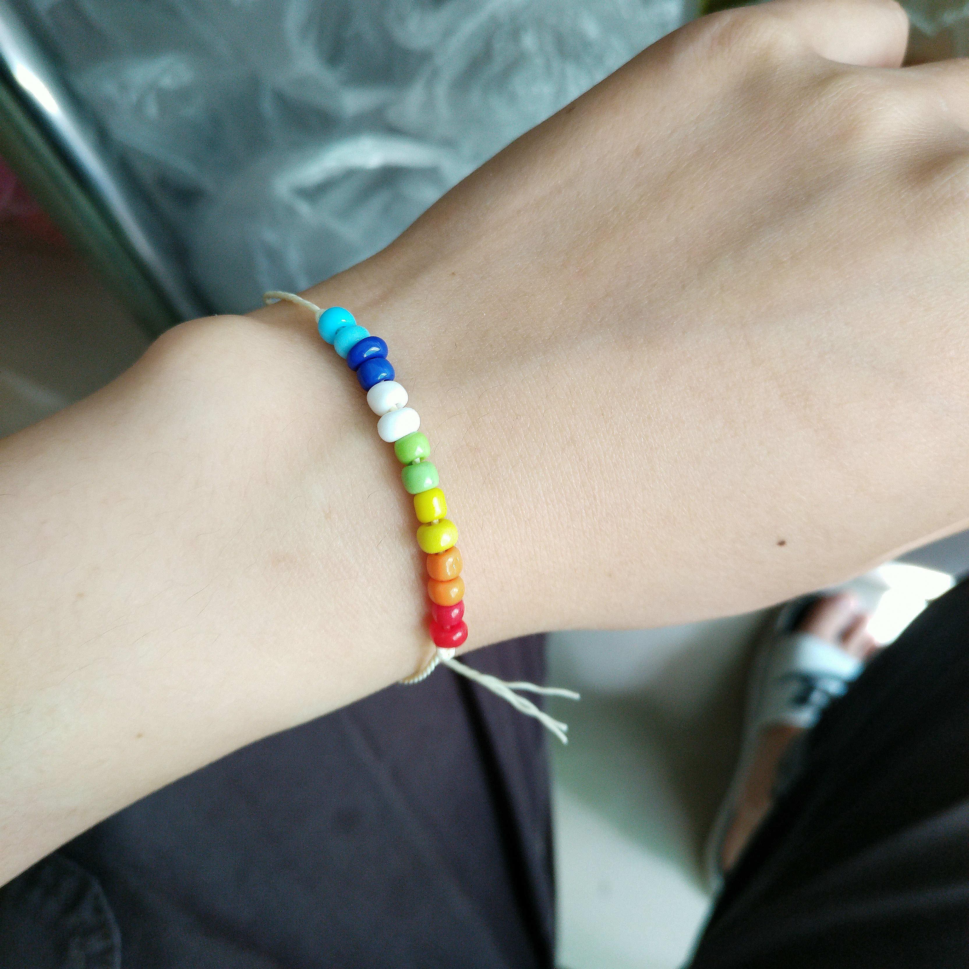 Rainbow Bohemian Handwoven Multi-layer Colorful Weave Round Beaded Bracelet Retro Rice Adjustable Rope Ethnic Bangles Wholesale Bracelet