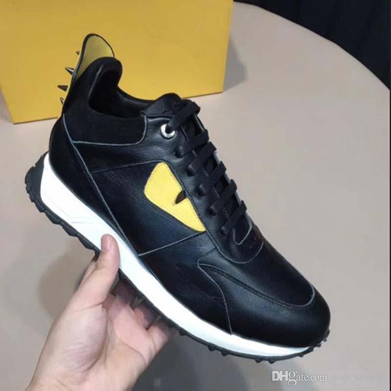 Мужские причинно-следственные модные кроссовки с высококачественной кожей удобная и дышащая шнуровка tranier sports running leisure all-match shoes P DB4