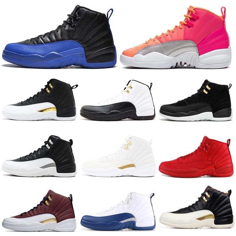 الظلام الخصم الرمادية 12S الرجال أحذية كرة السلة 12 عكسي تاكسي أجنحة لعبة الملكي HOT PUNCH الرجال المدربين الرياضة احذية 7-13