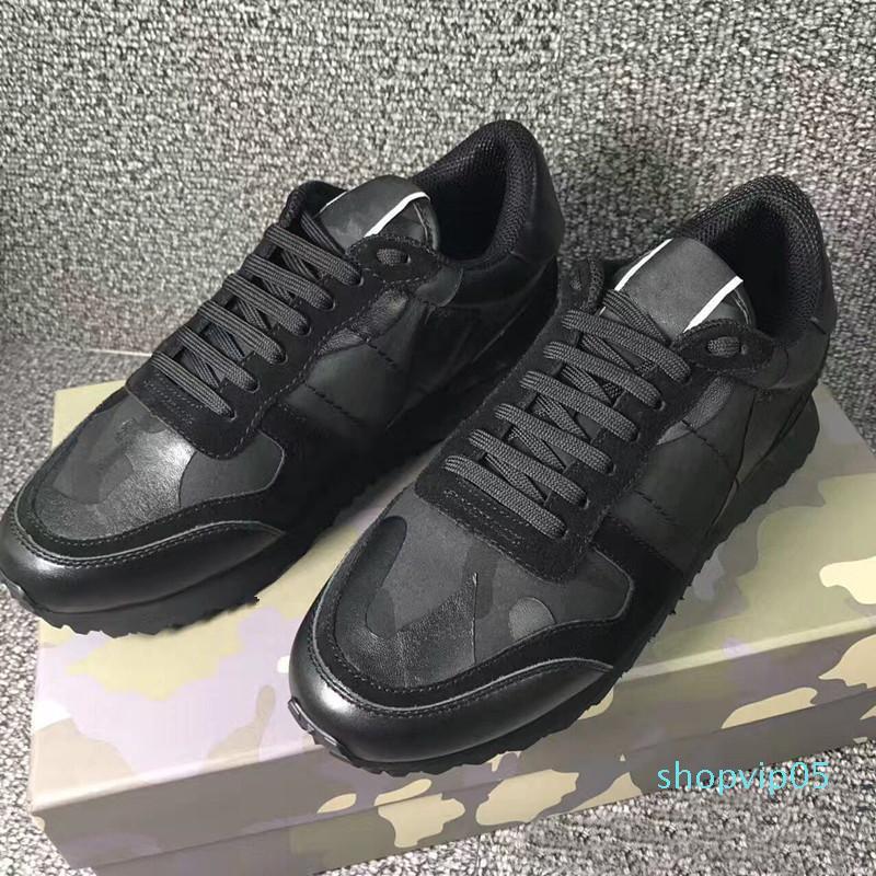 2019 neue Designer-Mann lässige Schuhe Top-Qualität aus echtem Leder Luxusfreizeitschuhe Größe 35-44 Rotunterseiten CV5