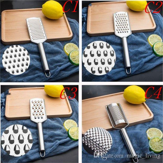 Multi Function Planing Instrument Stainless Steel Cheese Chocolate Lemon Silk Scraper Planer Clean Brush Kitchen Tool 29