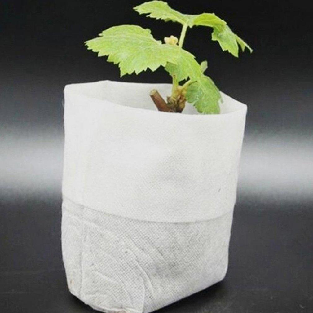 100 шт. / пакет биоразлагаемые семена питомник сумки питомник цветочные горшки овощной трансплантат разведение горшки сад посадка мешок