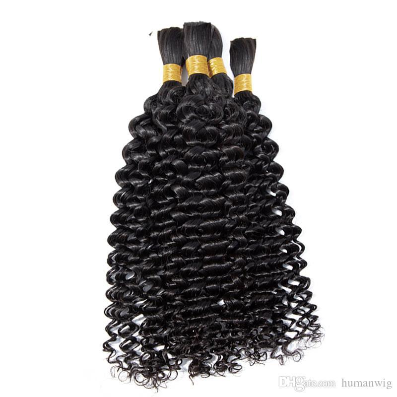 Afro Kinky Human Hair Bulk Human Braiding Hair Brazilian Curly Bulk Hair No Weft 100g Natural Black Brown Blonde