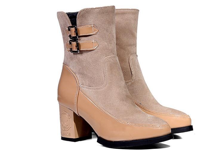 2017 Botas Mujer Большой размер 34-43 Женская обувь Женщина Femininas Mid-теленок сапоги Botas Masculina Ботинес Mujer Chaussure Femme T07