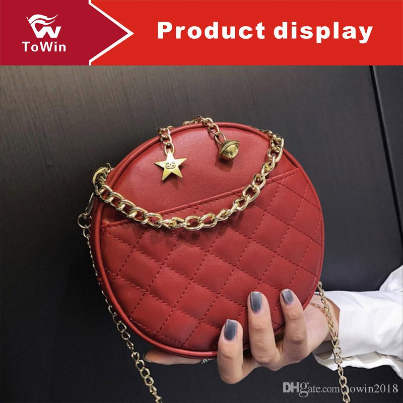 Women Handbags Luxury Designer Solid Color Sling Bags Lady Boston Bag Fashion Shoulder Bag Trend Tote Female Circular Bags Purse Wallet