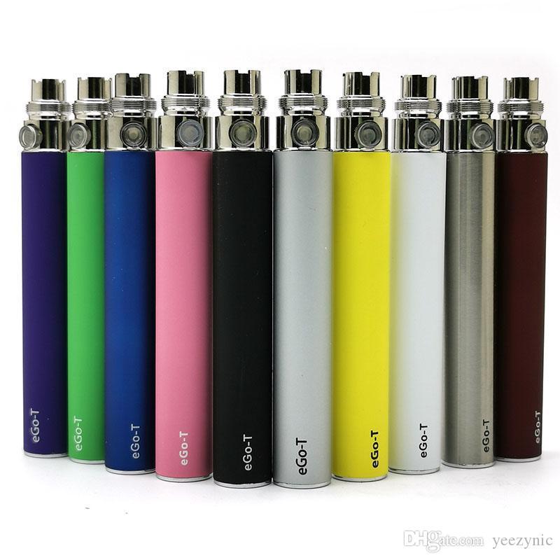 desechable vaporizador 510 de la batería hilo eGo T 650mAh batería de 900 mAh 1100 mAh de la batería de Vape cigarrillo electrónico 510 Baterías de roscado 10 colores