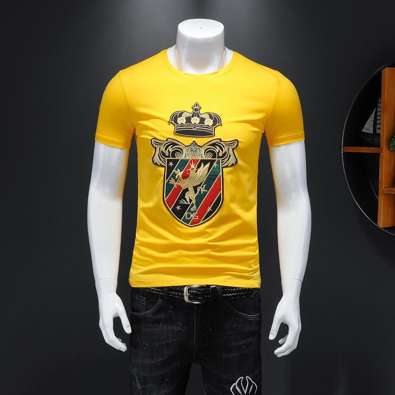 2020 nuevo algodón de alta calidad O-cuello de la manga corta de la camiseta de la marca camisetas de los hombres de estilo casual para hombre del diseñador deportivos de lujo camisetas