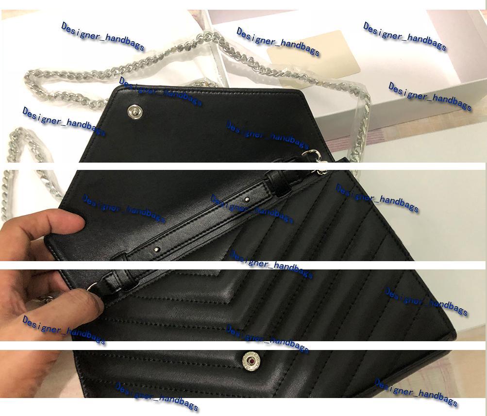 حقيبة يد أعلى جودة جلد طبيعي أزياء سلسلة CROSSBODY حقيبة معدنية حقائب غطاء الوجه المحفظة محفظة المرأة قطري حقائب الكتف مع BOX