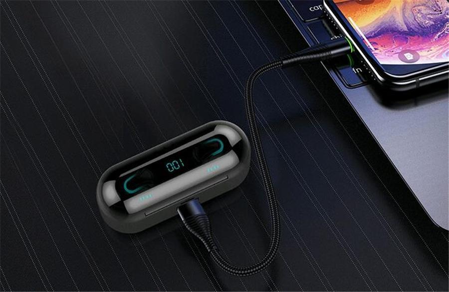 Bluetooth 5.0 A2-Tws drahtlose Bluetooth-Kopfhörer-Sport-Musik-Earbuds Double Call-Stereo-Headset für alle Smartphones Kopfhörer # OU533