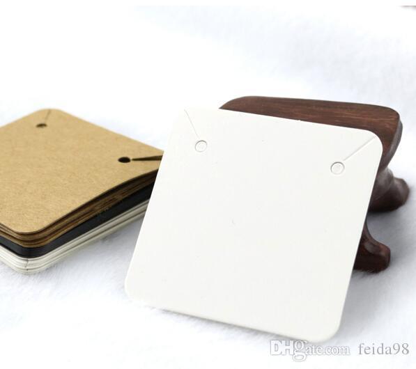 5x5cm vuoto della carta kraft Jewelry Display Cards collana Hang favore Etichetta Tag per monili che fanno fai da te accessori 1000pcs / lot GB396