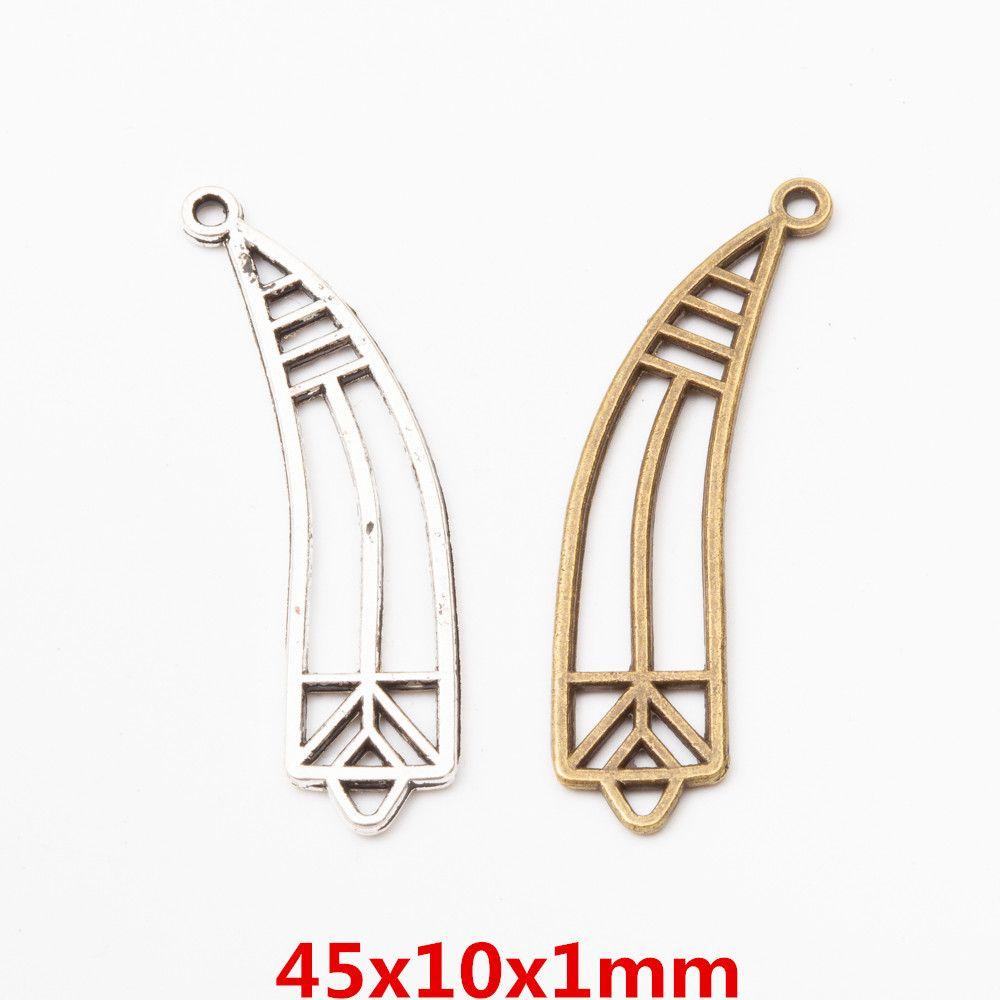 wholesale 44pcs vintage metal Zinc alloy charms Horn pendant for diy jewelry findings 5800