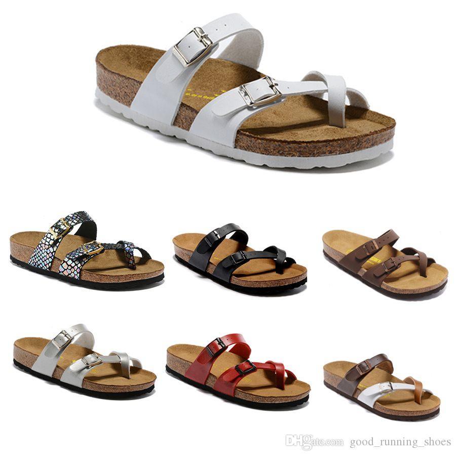 12 renk Mayari Florida Arizona 2019 Sıcak satmak yaz Erkek Kadın flats sandalet Mantar terlik unisex rahat ayakkabılar Plaj terlik b ...