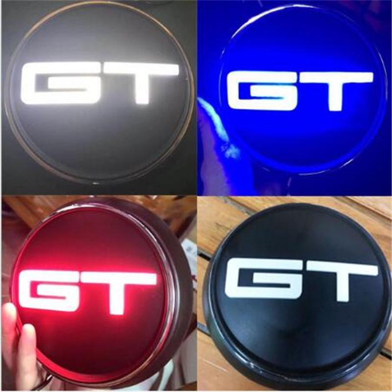 Лучший автомобиль Стайлинг 3 Цвет Светодиодные Красный Синий Черный Mustang GT Задняя часть кузова Магистральные знак герба Стикер