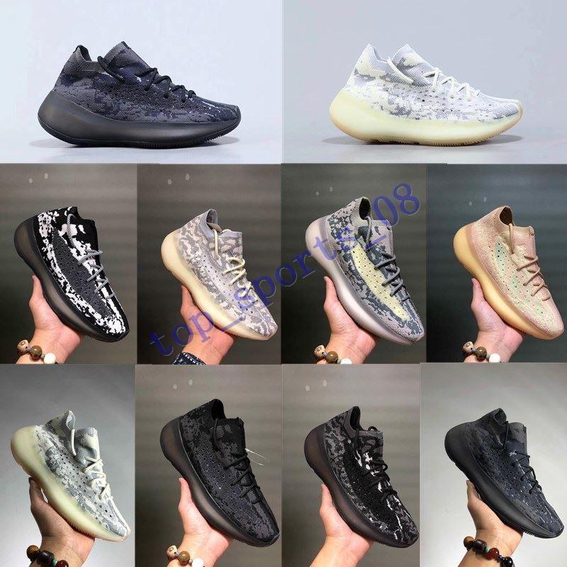 2019 أحذية جديدة تشغيل 380 V3 كاني ويست الغريبة مصمم الرجال النساء بولد الأسود والأبيض ستارك سيترين 3M في الهواء الطلق احذية رياضية مع صندوق