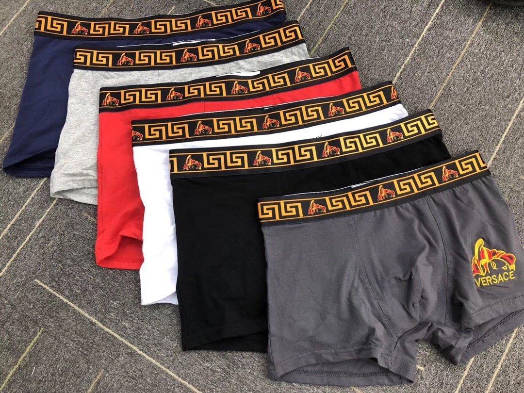 3pcs beaucoup Sous-vêtements pour hommes de haute qualité 3 couleurs sexy pour hommes en coton respirant Sous-vêtements Boxers Caleçon Homme Sous-vêtements Homme Boxer