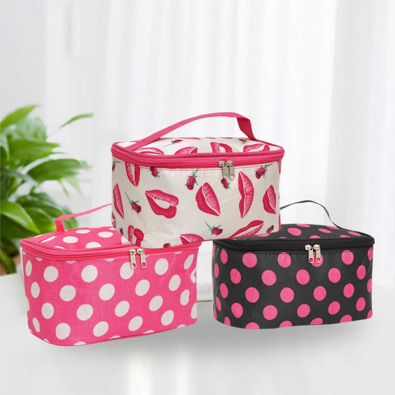 Wholesale Makeup Bag Hand Held Polyester Quartet Bag Large Capacity Jewelry Cosmetic Bag Travel Wash Bags