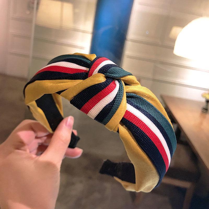 Designer Sciarpe netto Red Hairband stile coreano Studentessa Tutto-fiammifero dei capelli accessori dei capelli della fascia del copricapo Accessori per capelli fascia Hairba