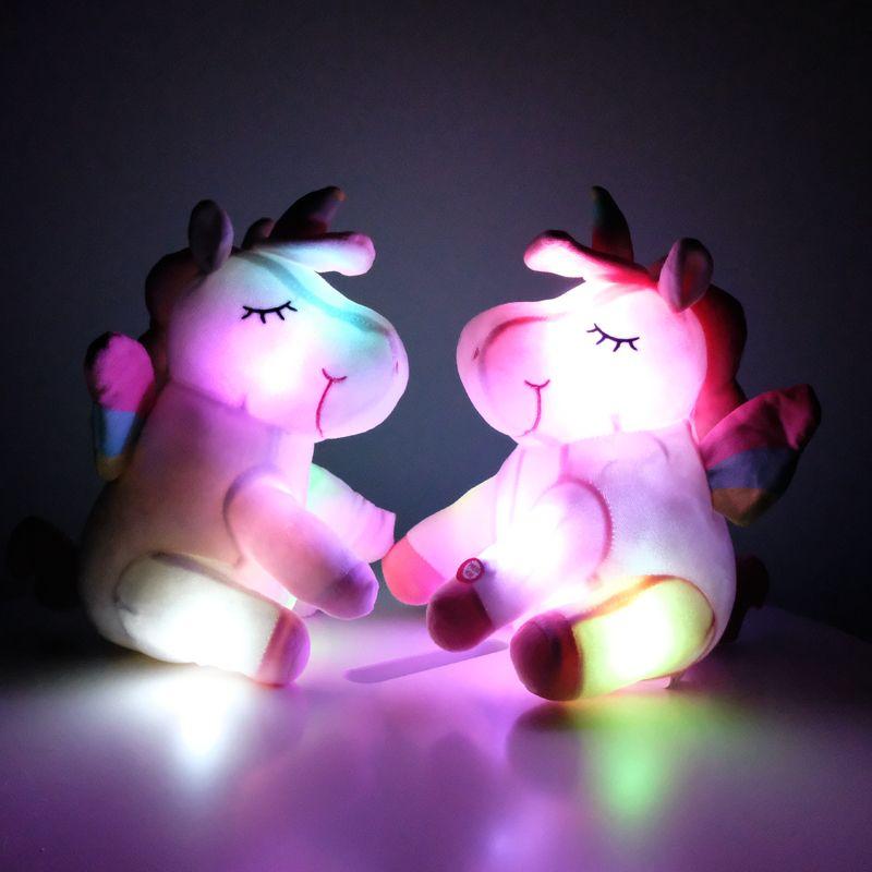 Adorable Rainbow Unicorn Plush Toy Stuffed Animal Baby Soft Doll Kids Xmas Gift