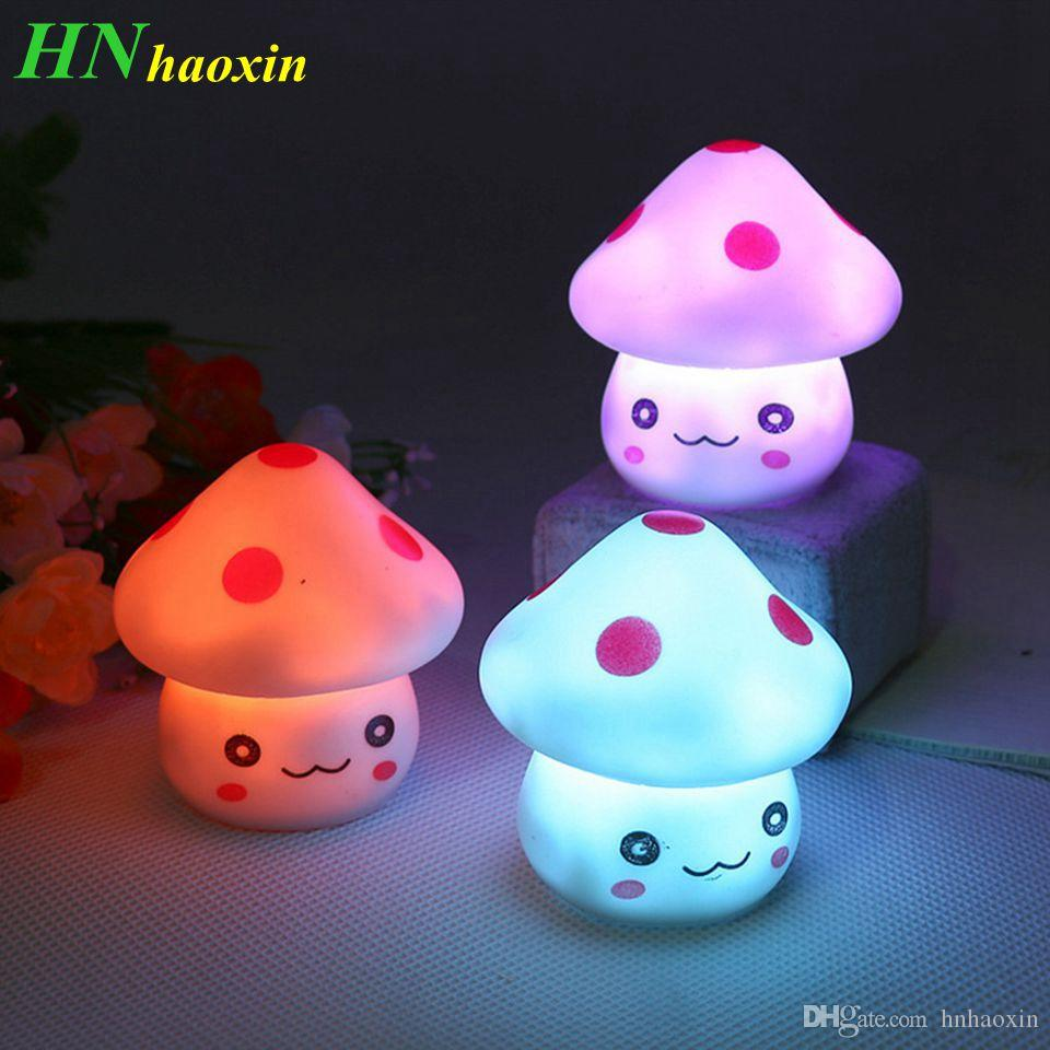 Children Baby Kids Room Decoration Nursery Bedside LED Mushroom Lamp Night Decor
