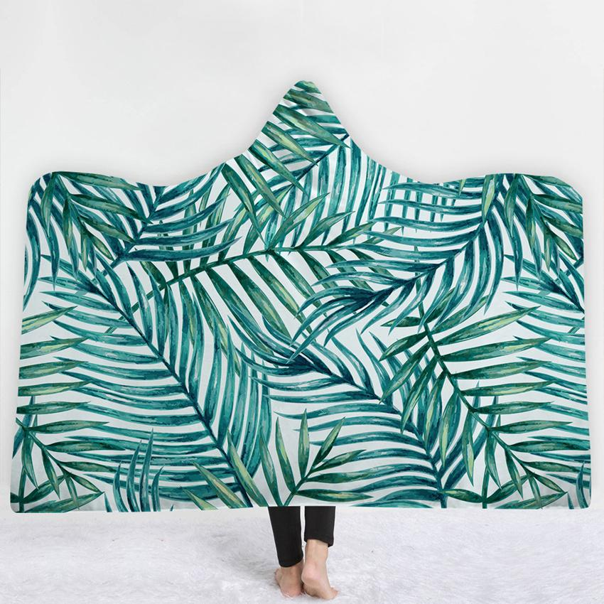 Magnificent Tropical Plant Pineapple Hooded Blanket Sherpa Fleece Ocean Blue Wearable Plush Throw Blanket On Bed Sofa Thick Warm Le206 Blankets Babies Baby Gear Bralicious Painted Fabric Chair Ideas Braliciousco
