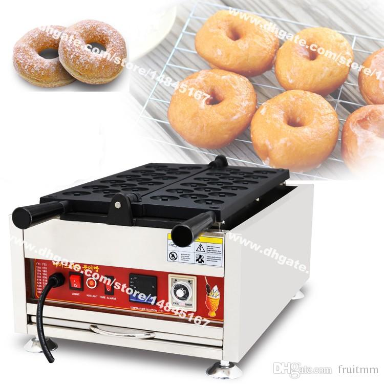 Ücretsiz Kargo 17 adet 5 cm Ticari Kullanım yapışmaz 110 v 220 v Elektrikli Dijital Mini Donut Donut Makinesi Maker Baker