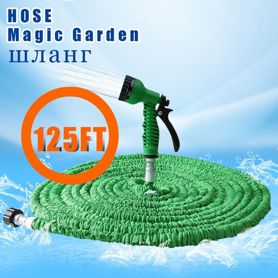 ON SALE 25-125FT Garden Hose Expandable Magic Flexible Water Hose EU Plastic Hoses Pipe With Spray Gun To Watering