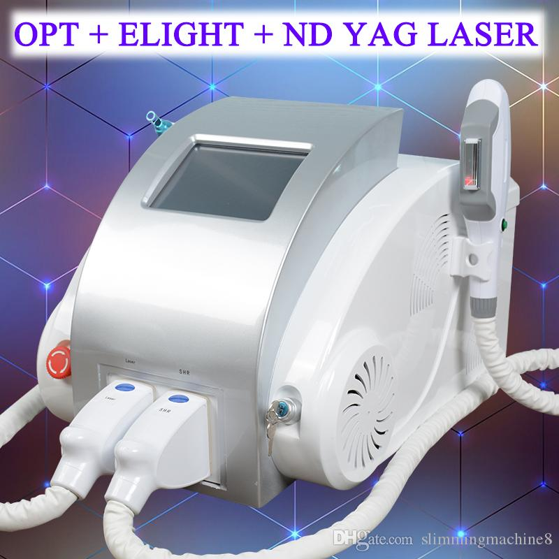 OPT IPL fonksiyonlu makine SHR epilasyon shr makinesi IPL elight cilt gençleştirme ND YAG Lazer dövme silme makinesi