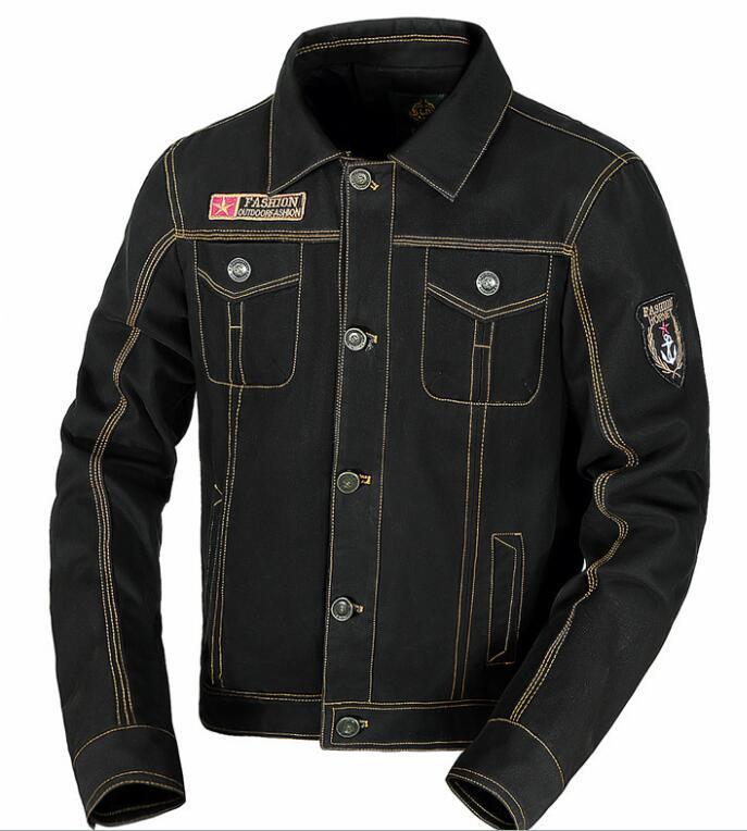 Nuovo autunno della molla di modo del rivestimento sottile outerwear monopetto militare cotone uniforme bavero uomini grandi dimensioni giacca casual CAPPOTTO