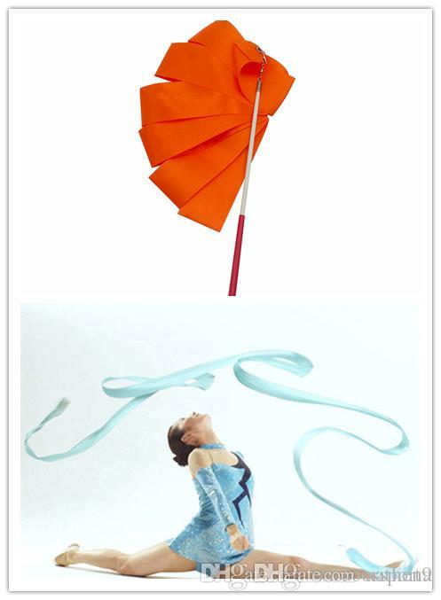 Dance Ribbon 4 Meters Colorful Fitness Ribbon Dance Ribbon Art Gymnastics Ballet Rotating Rod Training C