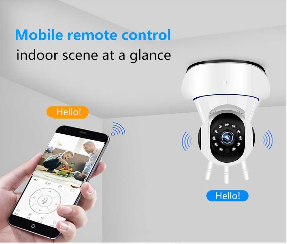 1080P Kablosuz 1920 * 1080 IP Kamera Akıllı Ev Güvenlik Gözetleme CCTV Ağ Wifi Kamera