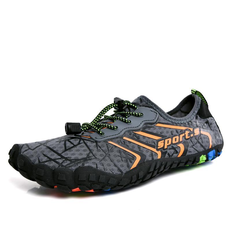 Zapatos al aire libre de senderismo de secado rápido de la aguamarina elástico ligero y transpirable hombre de senderismo Aguas arriba de la playa de deportes acuáticos de las zapatillas de deporte