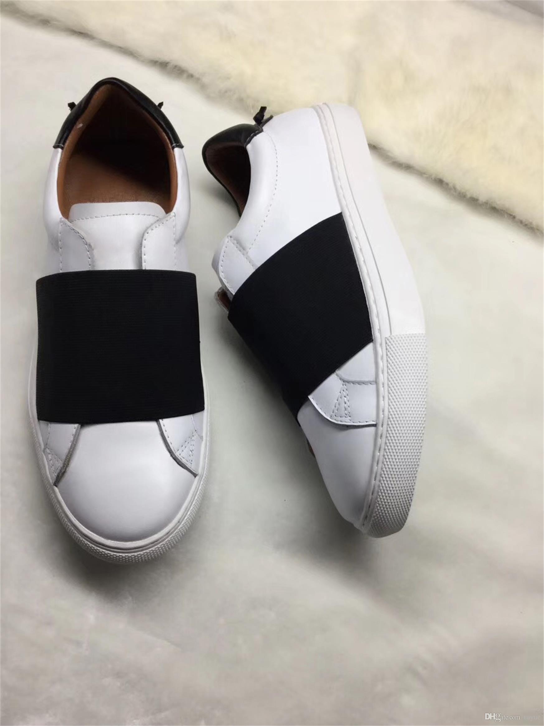 Chaussures Fashion Designer occasionnels mens cuir paris avec sneaker élastique pour hommes femmes taille 34-46