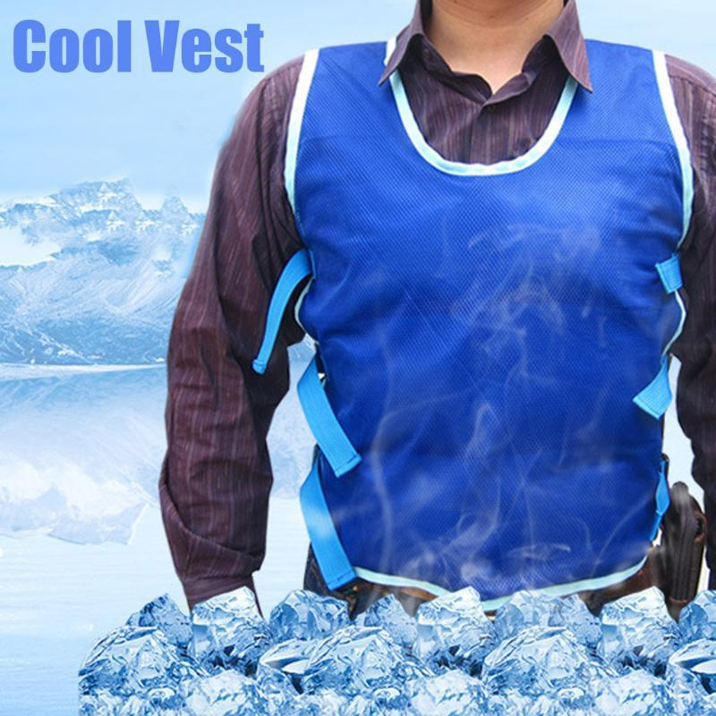 Outdoor Summer Cooling Vest Ice Bags Clothing For Cycling Fishing Outdoor Activity Anti High Temperature Vests Work Clothes 2020