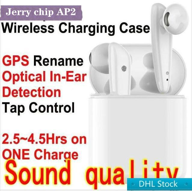 TWS جيري رقاقة الجيل 2 AP2 لاسلكي شحن بلوتوث 5.0 سماعات سماعات يطفو على السطح سيري تسمية GPS سماعات الأذن PK I12 I10 I500 W1 3 الموالية