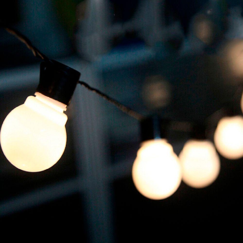 6m festoon led globe fairy string light christmas garland 20 led fairy light bulb outdoor for wedding garden party decoration Y200603