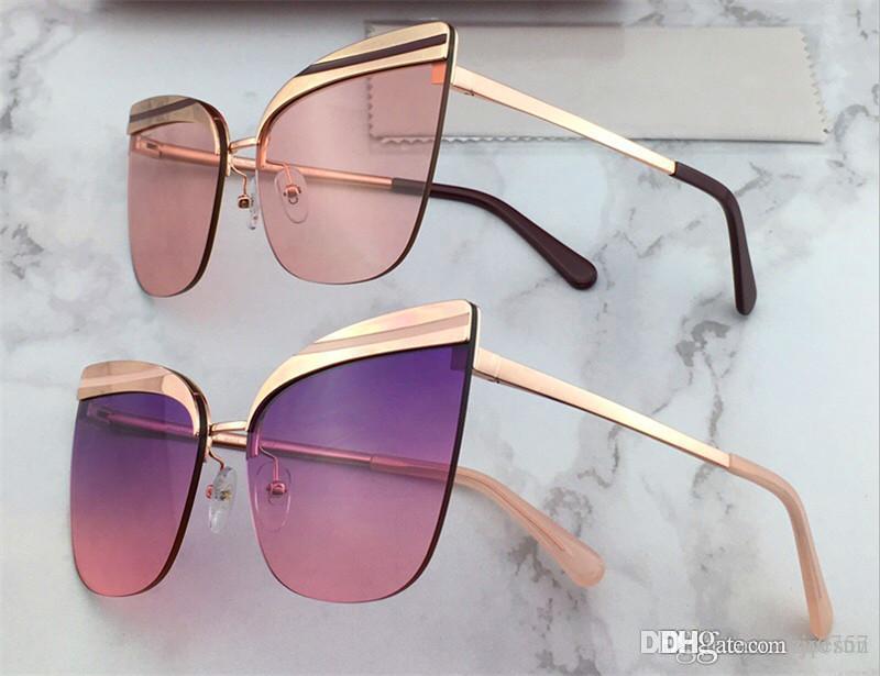New Fashion Design Sunglasses SF 166 Frameless Avant-Garde Popolare UV400 Protezione Eyewear di Protezione Vendita all'ingrosso Occhiali da donna Stile Donne