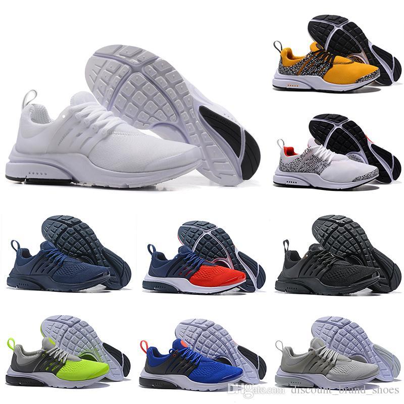 NIKE 2019 Safari Pack PRESTO 5 BR QS Breathe Nero Bianco Giallo Rosso Uomo Donna Scarpe da corsa Mens Racer Blue Walking designer Sneakers sportive