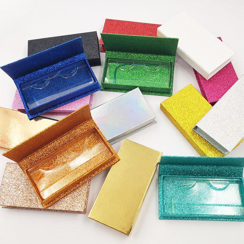 거짓 속눈썹 포장 상자 레이저 속눈썹 상자 사용자 정의 로고 가짜 밍크 샴푸 메이크업 빈 속눈썹 케이스 스토리지