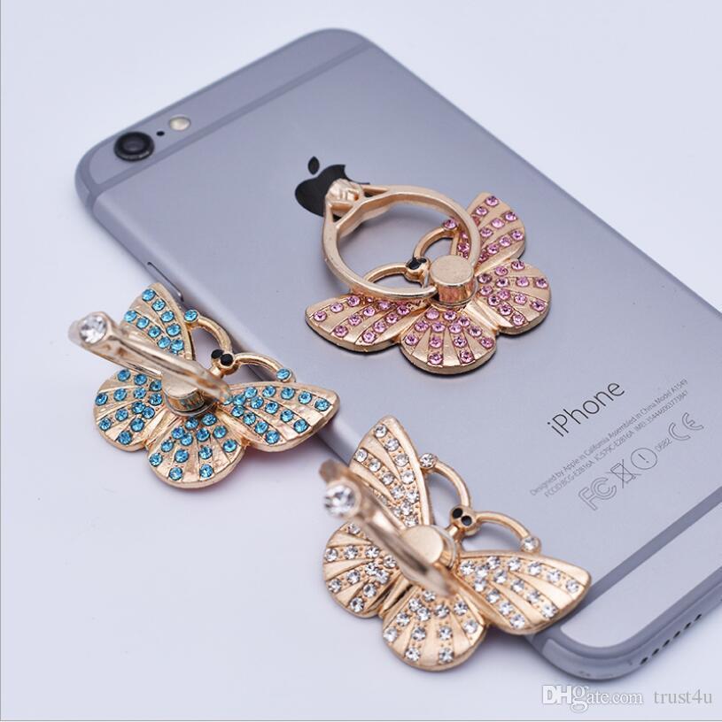 Butterfly 360 Phone Finger Ring Holder iPhone 7 용 휴대 전화 스탠드 6 삼성 S8 S7 Xiaomi Huawei OnePlus Vivo Oppo 스마트 폰 태블릿