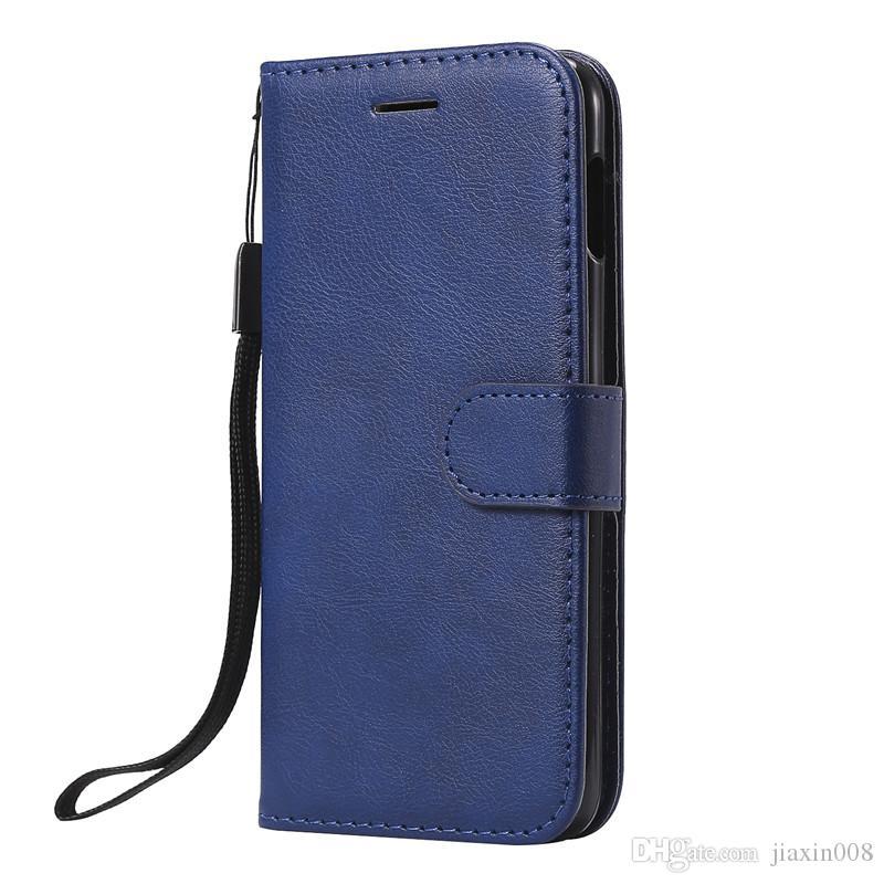 Para Samsung Galaxy S10E Funda Flip Funda Cartera Soporte Color puro Cuero de PU Bolsas para teléfono móvil Fundas Coque