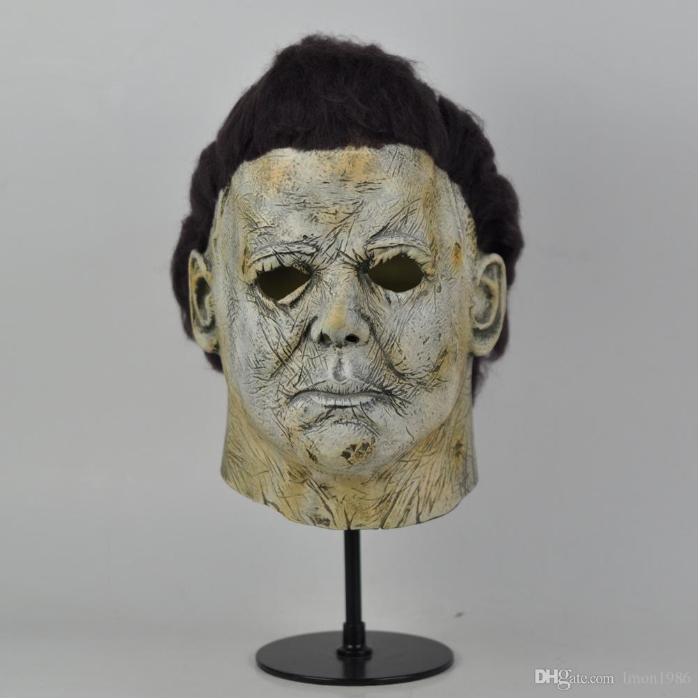 Top Grade!!! Cool Michael Myers Mask Halloween 2018 Horror Movie Cosplay Adult Latex Full Face Helmet Halloween Party Scary Props