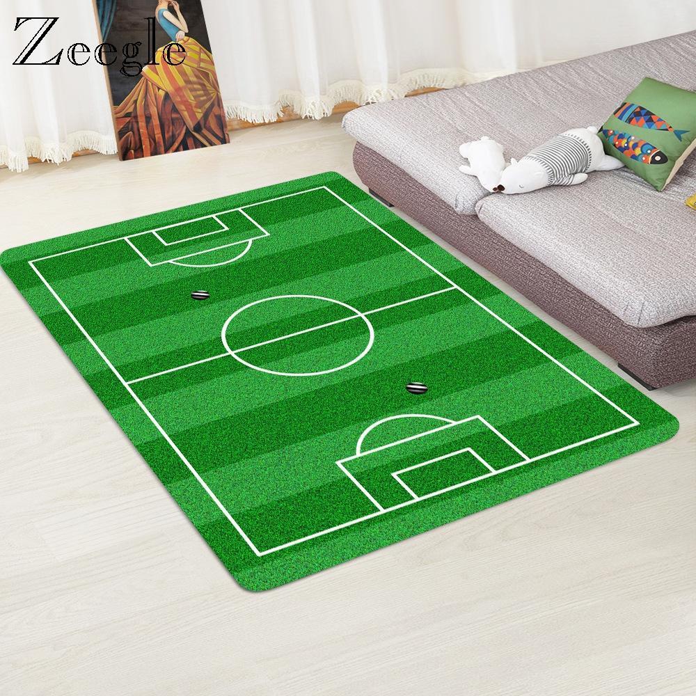 Tapis Moderne 3D Football Zone Tapis Tapis Flanelle Tapis Mousse À Mémoire Garçons Enfants Jouer Tapis Tapis Grands Tapis pour Salon