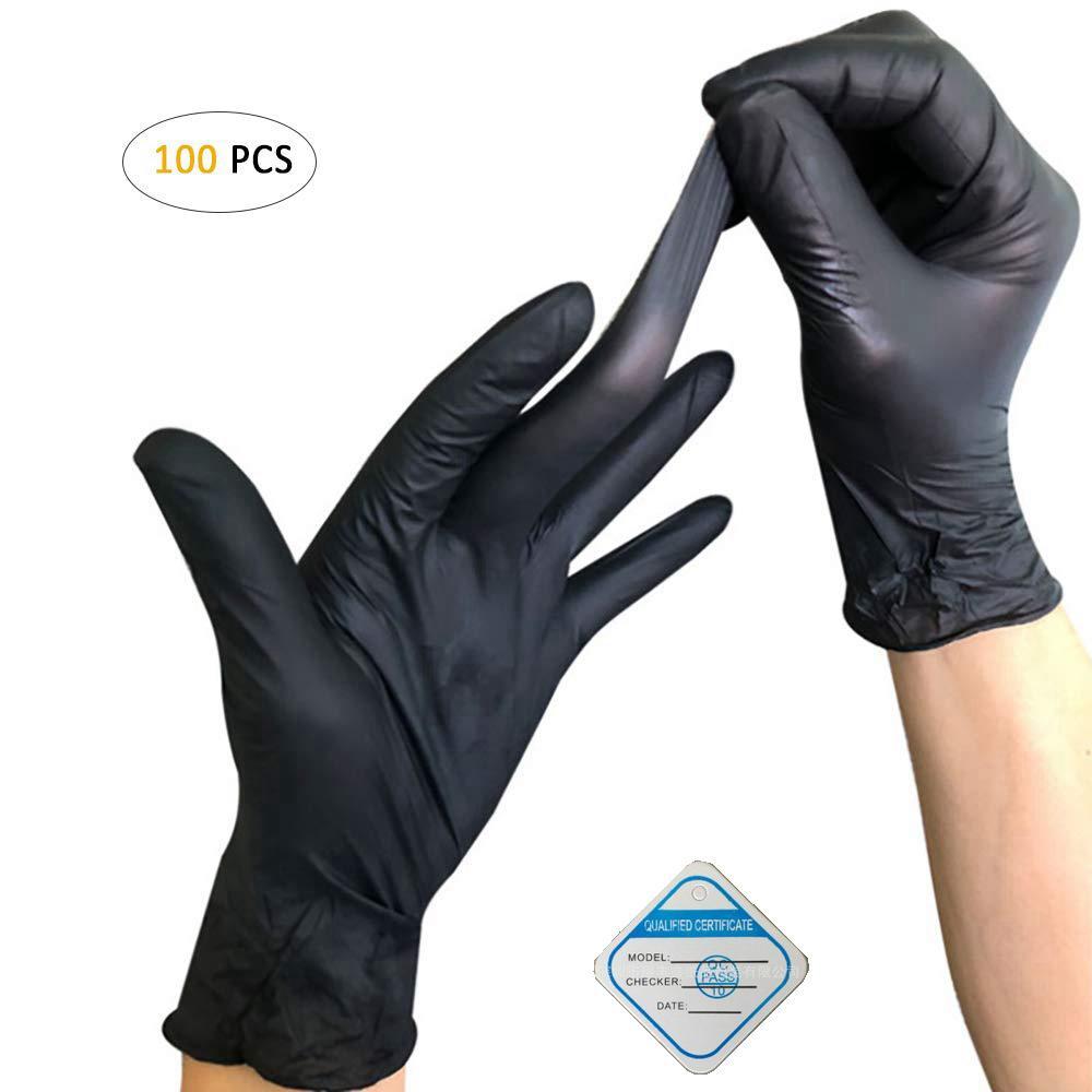 100 шт Одноразовые нитриловые перчатки, латекс, неопудренные, одноразовые, нестерильные, для очистки, приготовления пищи, уход за волосами