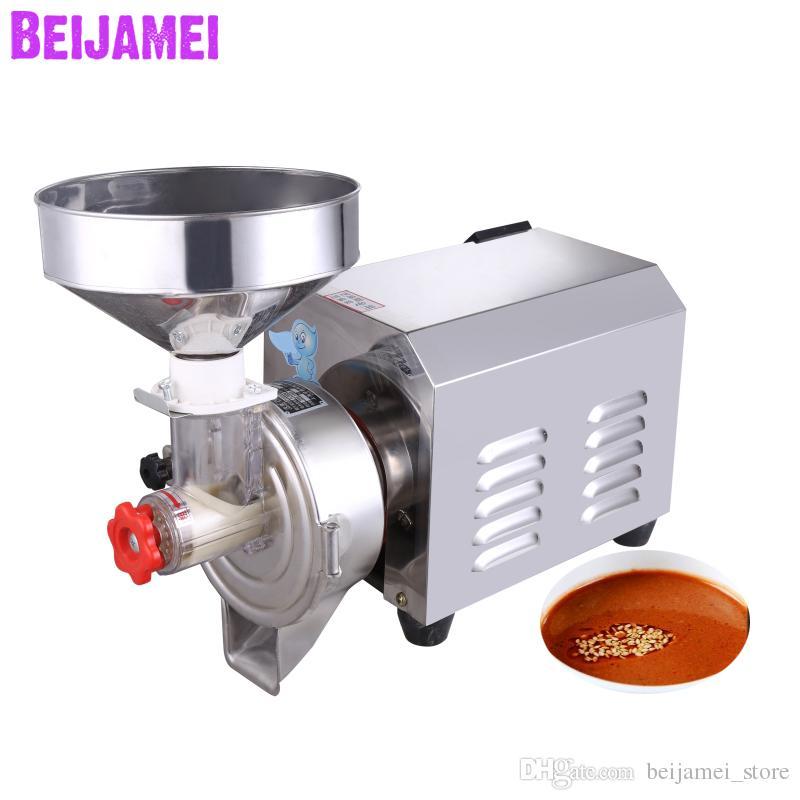 BEIJAMEI Оптовая Многофункциональный коммерческий Арахисовое Масло Grinder делая Машину 220 В Электрический кунжут паста Чайник Для Продажи