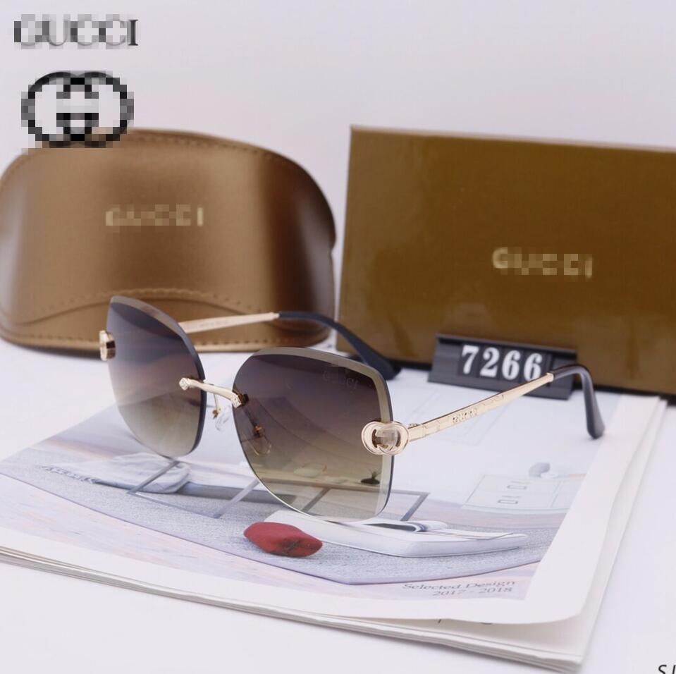 Erkekler Lüks Tasarımcı güneş gözlüğü Outdoor Gucci Güneş Zonnebril Erkekler Vintage Çerçevesiz Kare Küçük Çerçeve Modern Avant Garde Tasarım