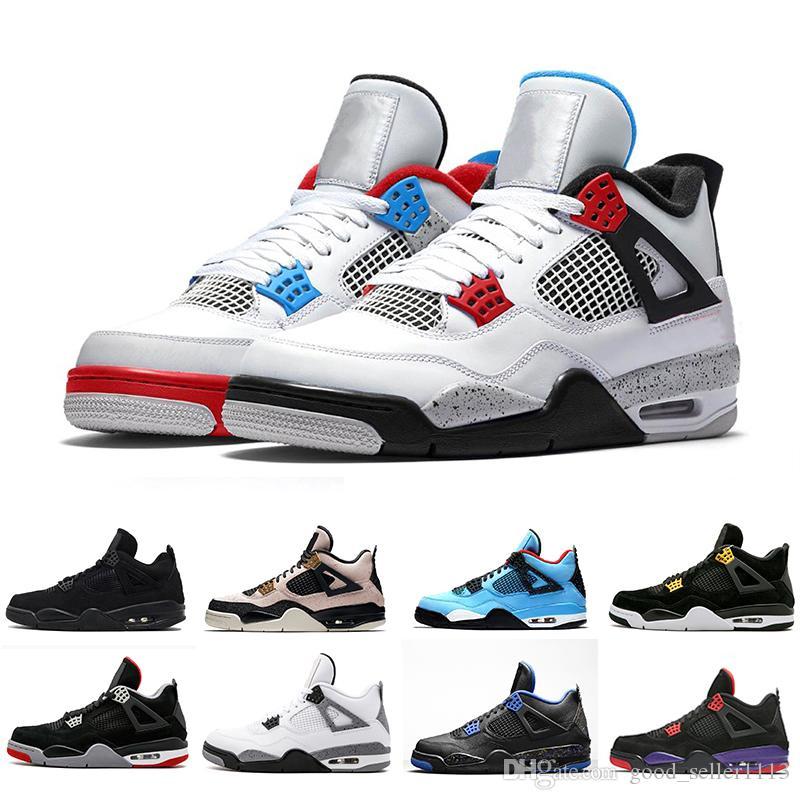 New 4 Silt Red 4s What The Men Zapatillas de baloncesto Alas para mujer Cemento blanco Bred Cool Gris Royalty Zapatillas deportivas para hombre 5.5-13